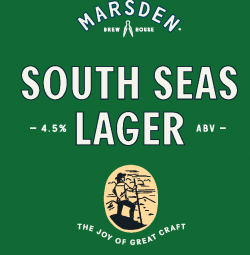 Marsden_Brewhouse_tap_talkers_South_Seas_Lager